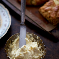 French Onion Scones with Roasted Garlic Butter
