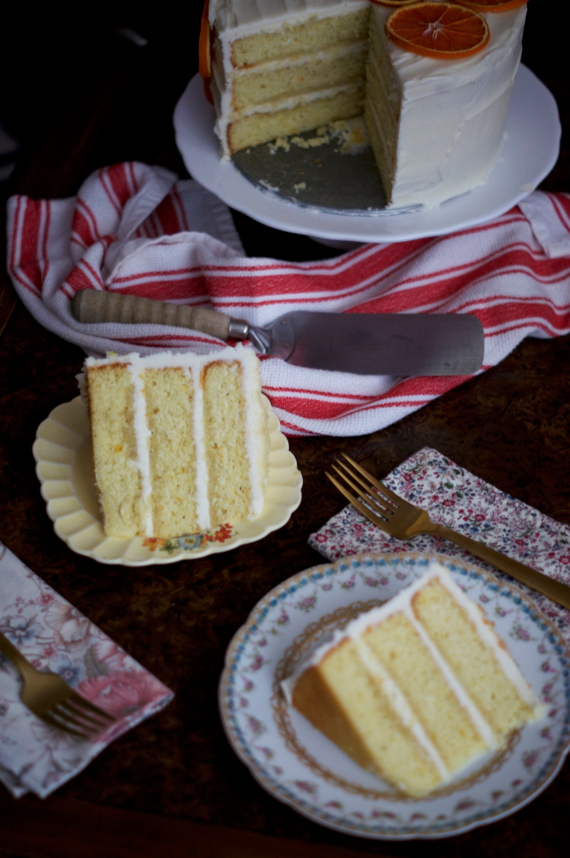 Orange Cream Cake | via Midwest Nice Blog