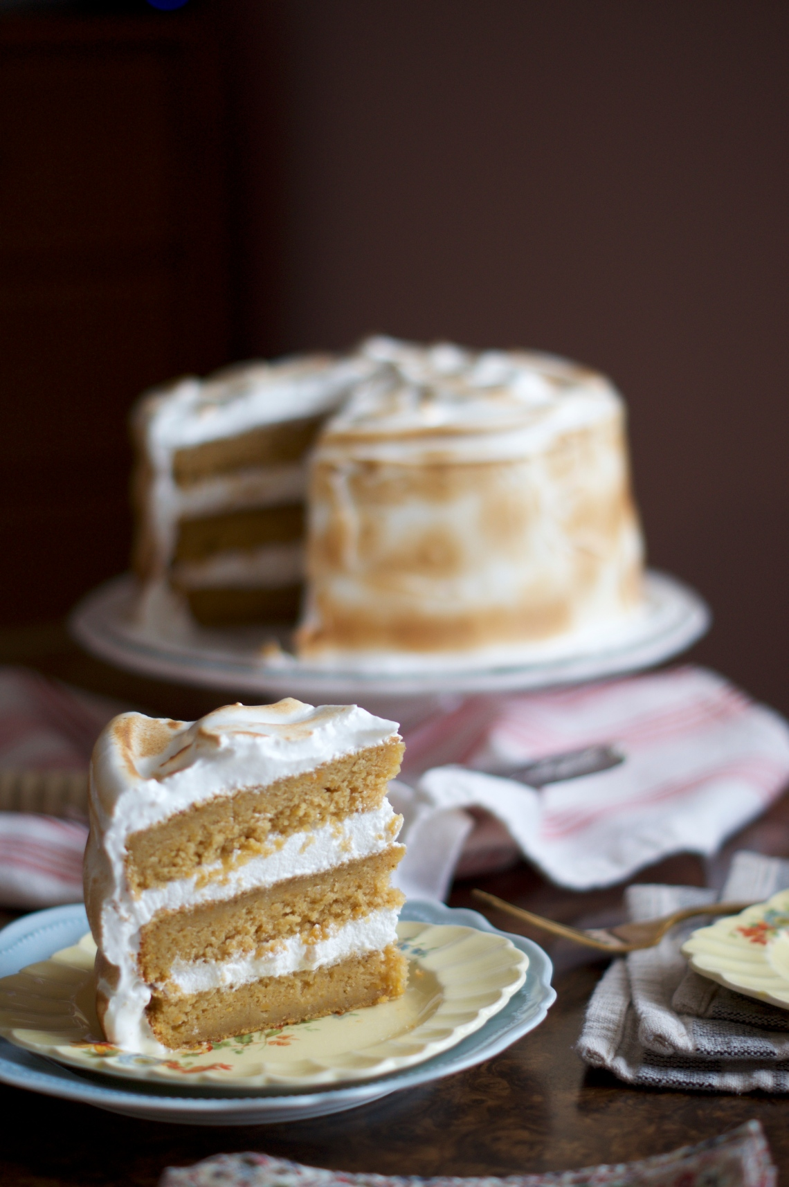 Sweet Potato Cake with Toasted Marshmallow Frosting | via Midwest Nice ...