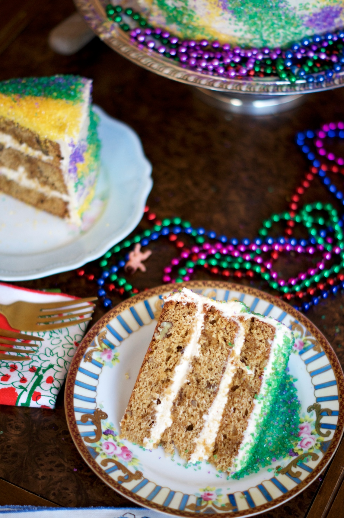 King Cake Layer Cake | via Midwest Nice Blog