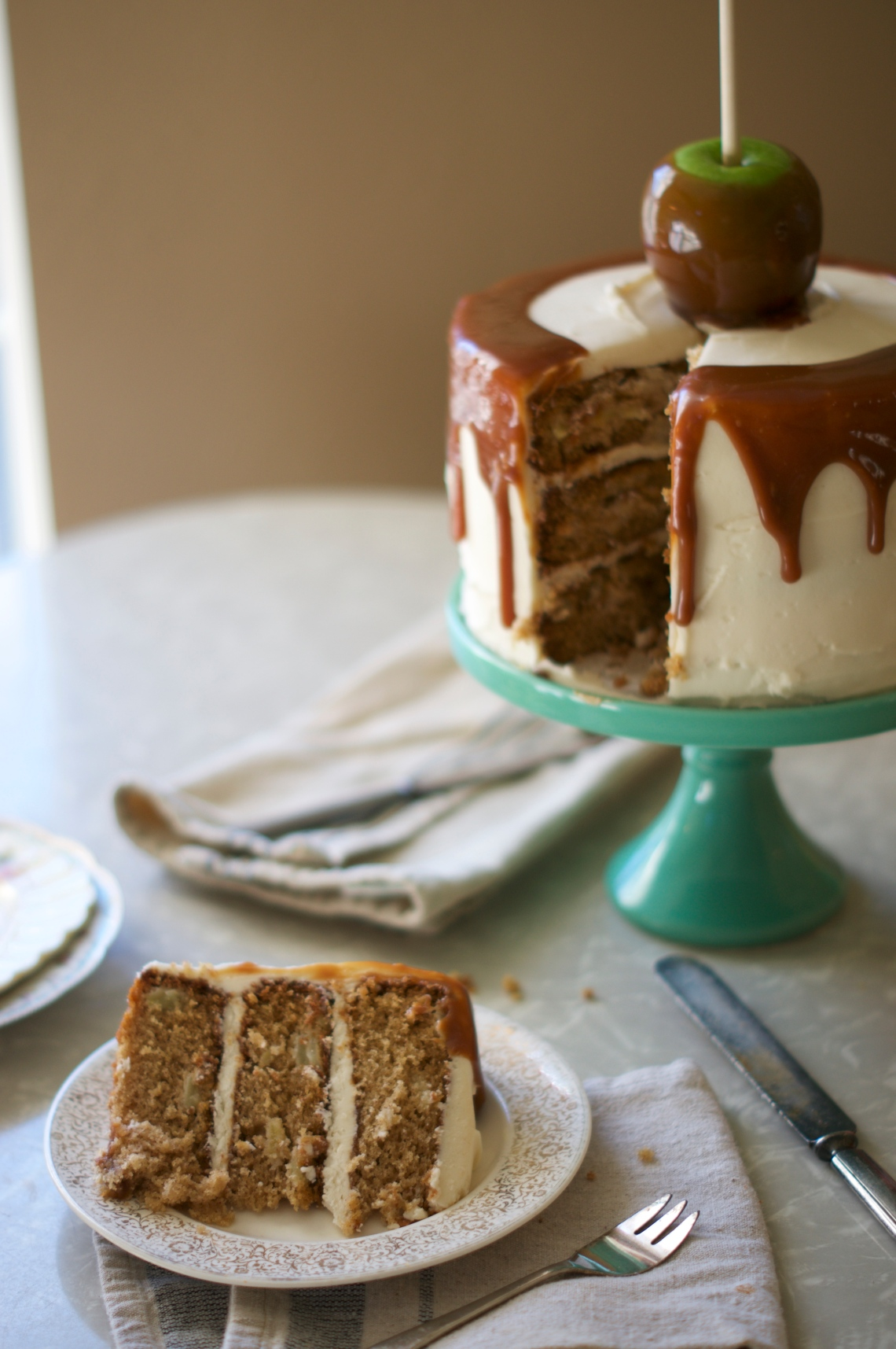 Caramel Apple Cake via Midwest Nice Blog
