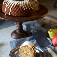 Brandy Pear Bundt Cake (& trying)