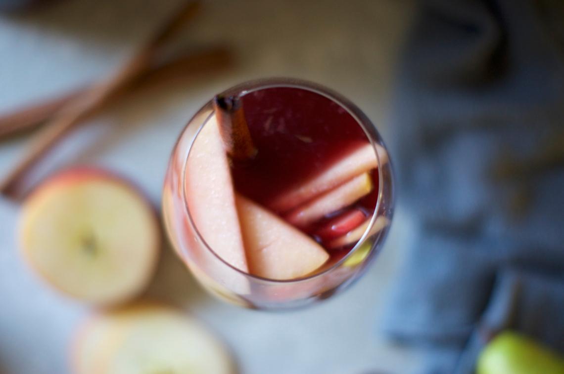 Sparkling Cider Sangria via Midwest Nice Blog