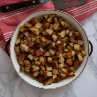 Mustard Roasted Red Potatoes (& Monday nights)