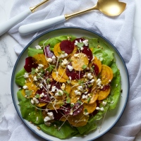 Shaved Beet Salad with Citrus Vinaigrette